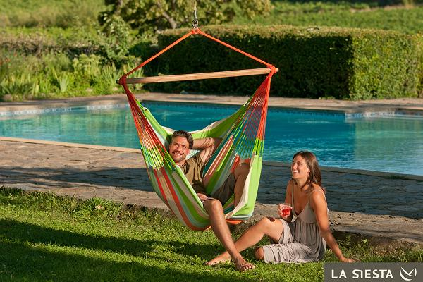 Domingo Hangstoel (lounger) coral